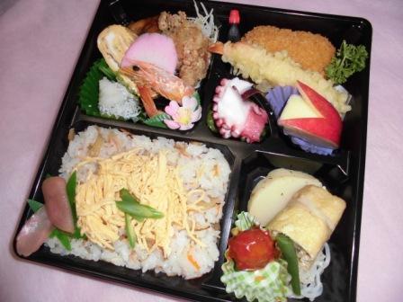 白菊会1000円バラ寿司弁当