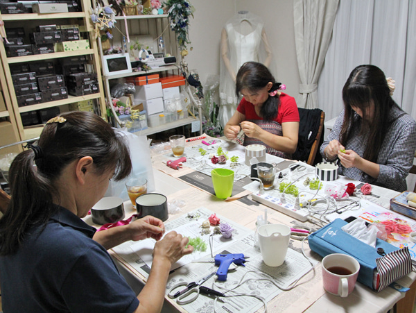 プリザーブドフラワー 教室 レッスン 千葉県 佐倉市