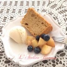白桃のシフォンケーキ…