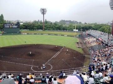 高校野球福島大会 磐城 vs 日大東北 at 開成山球場