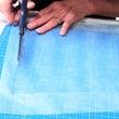 押花額 ブルーの和紙
