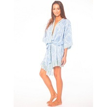 Tiare Hawaii Frill Robe 【blue amor beach glass】