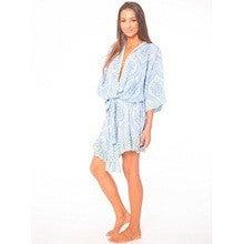 Tiare Hawaii Frill Robe 【blue amor beach glass】