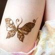 ヘナアートの蝶