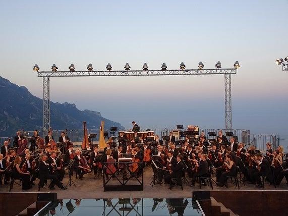 イタリア旅行 ラヴェッロ野外コーンサート
