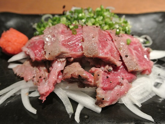 銀座おでん四季旬菜かん 牛肉タタキ