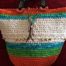 裂き編みバッグ3作品