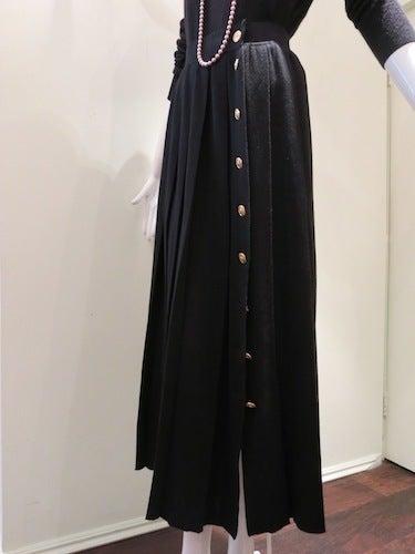 CHANEL ヴィンテージ シャネル カシミアニット マキシ プリーツスカート