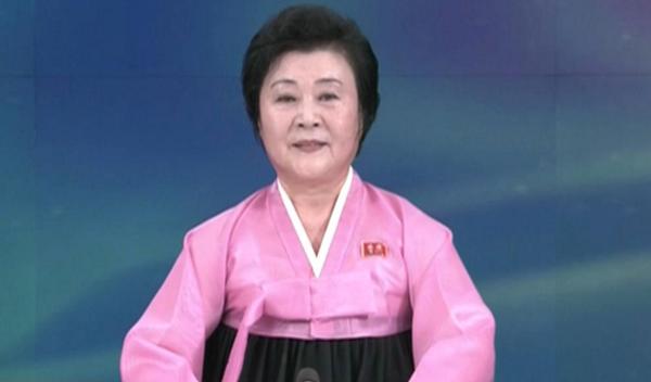 北朝鮮の女性アナウンサー