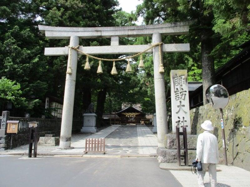諏訪神社の鳥居、御柱他1