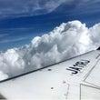 雲の上〜☁️(写メ)…