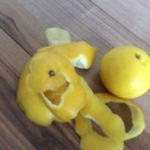 包丁で剥く柑橘類☆恵…