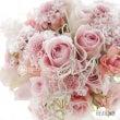 ピンクのブーケと花冠…