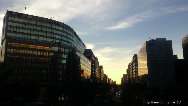 博多駅から見る夕焼け