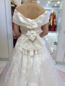 白無垢ドレス バックスタイル
