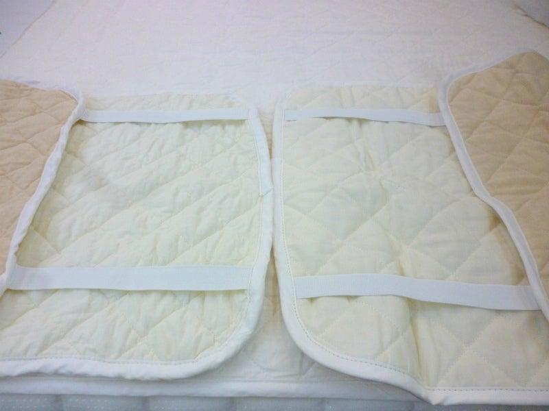 リネンニット枕パッド洗濯4