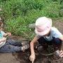 1歳息子ちゃん、泥ん…