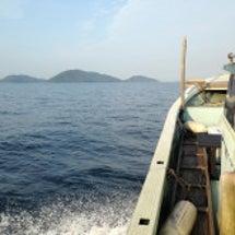 水島沖に海釣り。
