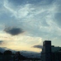 新幹線こだま号の車窓…