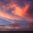 夕空の雲が。。。火の…