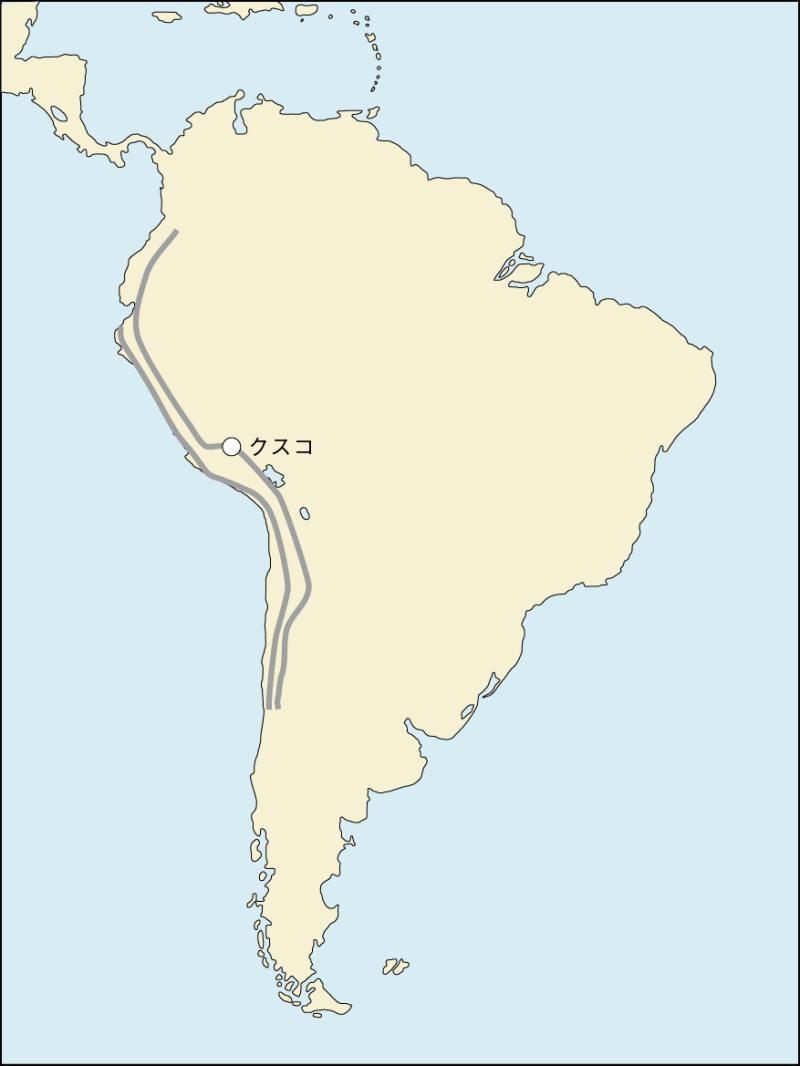 カパック・ニャン 地図