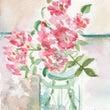 ミニ薔薇の水彩画