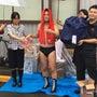抽選会で雨!