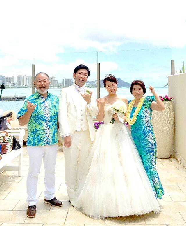 ハワイ挙式のお写真