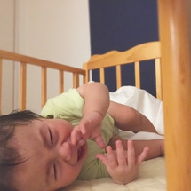 赤ちゃんに一句。