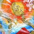 美人の黄金龍を描いて…