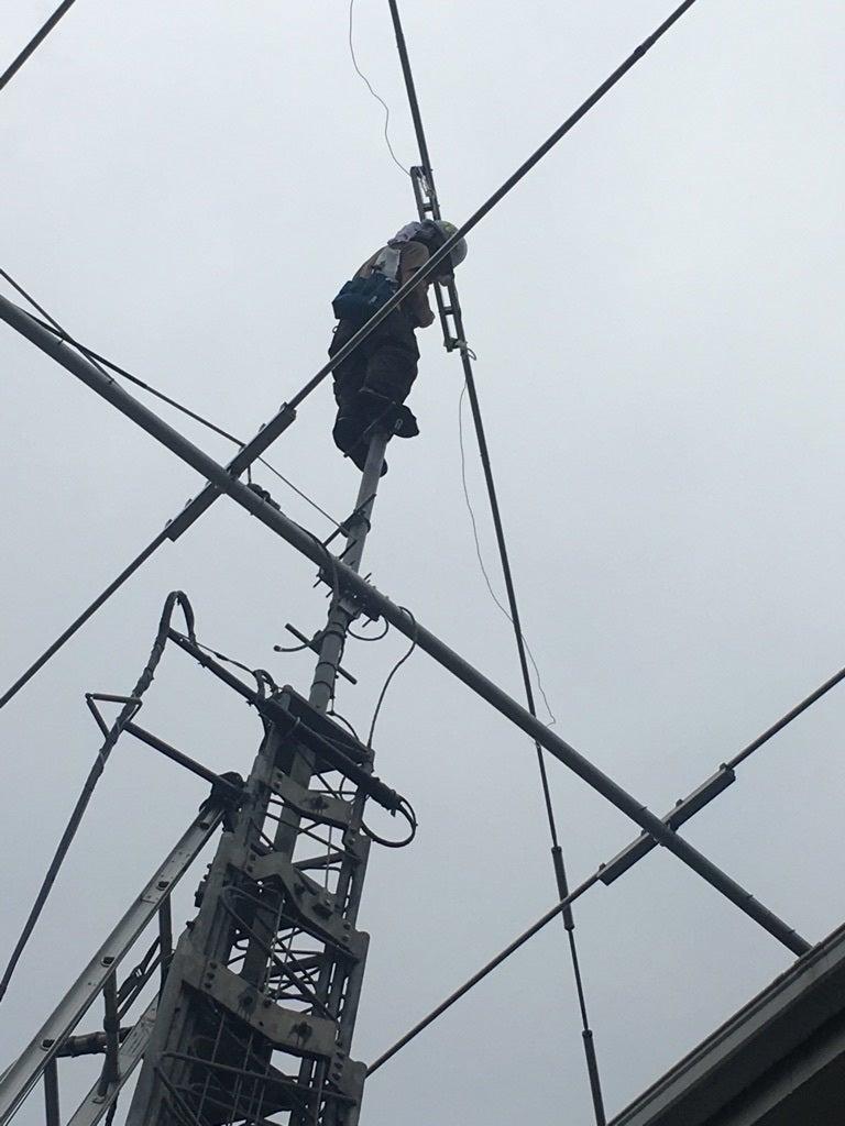 無線アンテナ工事及び切り替え機追加工事