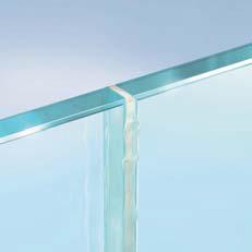 シリコンシール材でのガラス接着