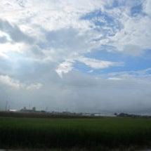 晴(太陽)と雨が共存