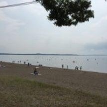 小川原湖でしじみ採り…