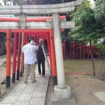 品川神社にて