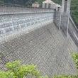 奥四万ダムの壁