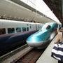 初の北海道新幹線で・…