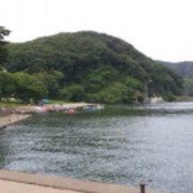 猪苗代湖と湖南町