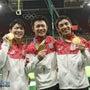 祝、体操男子金メダル…