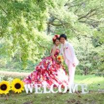 夏!楽しい結婚写真(…