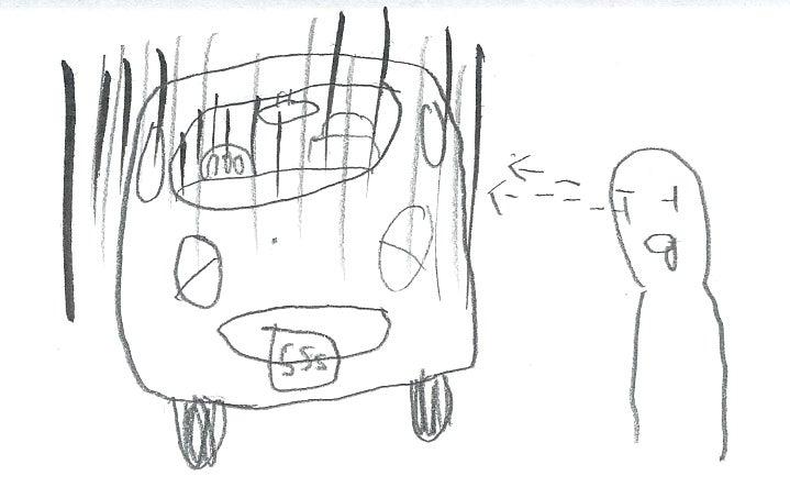 車を眺める