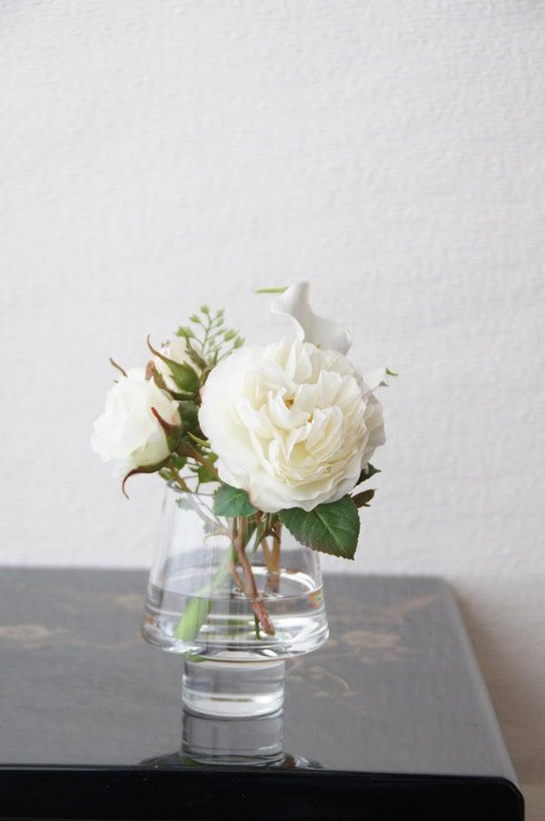 白いバラ アートフラワー