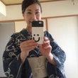 朝顔浴衣で、神戸へ。