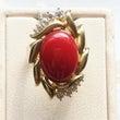 血赤の珊瑚のリング