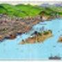 鞆の浦鳥瞰図(吉田初…