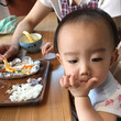 取り分け幼児食でご飯…