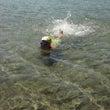 田沢湖で遊泳