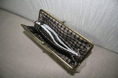 長財布がま口