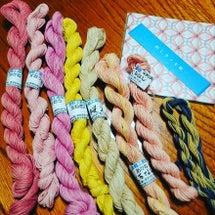 草木染めの刺し子糸
