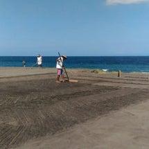 クサンバで海水天日塩…